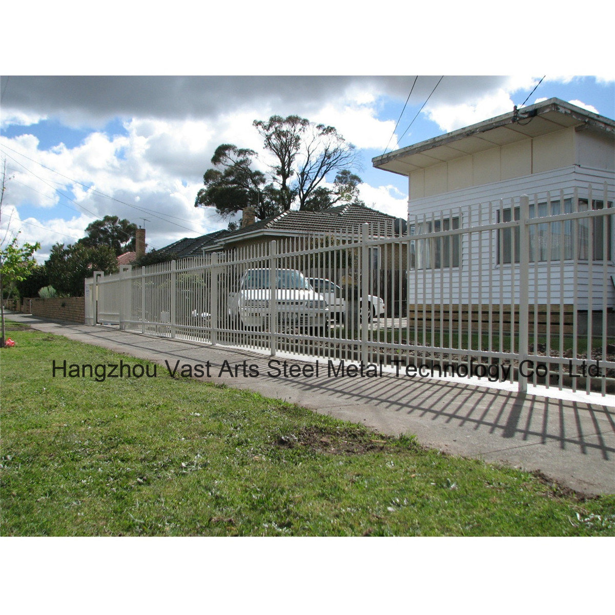 Cheap Simple Residential Security Galvanized Steel Garden Fence
