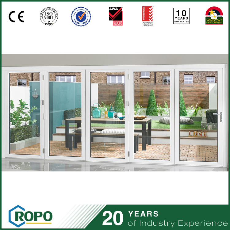 Custom PVC Bifolding Glass Doors From China Factory