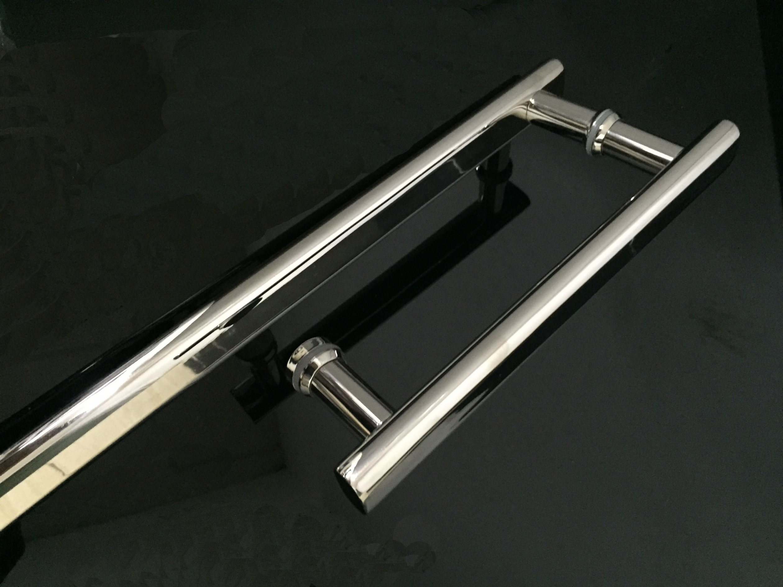 Stainless Steel Hinge Polish Shower Glass Door Handle