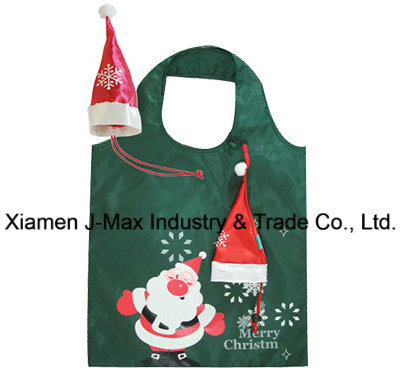 Christmas Gift Bag, Christmas Hat Style, Foldable, Handy, Lightweight, Gifts, Bags, Accessories & Decoration, Promotion