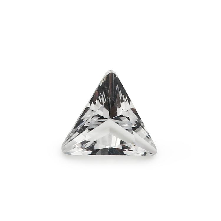 Wholesale Decorative White Triangle Glass Gems