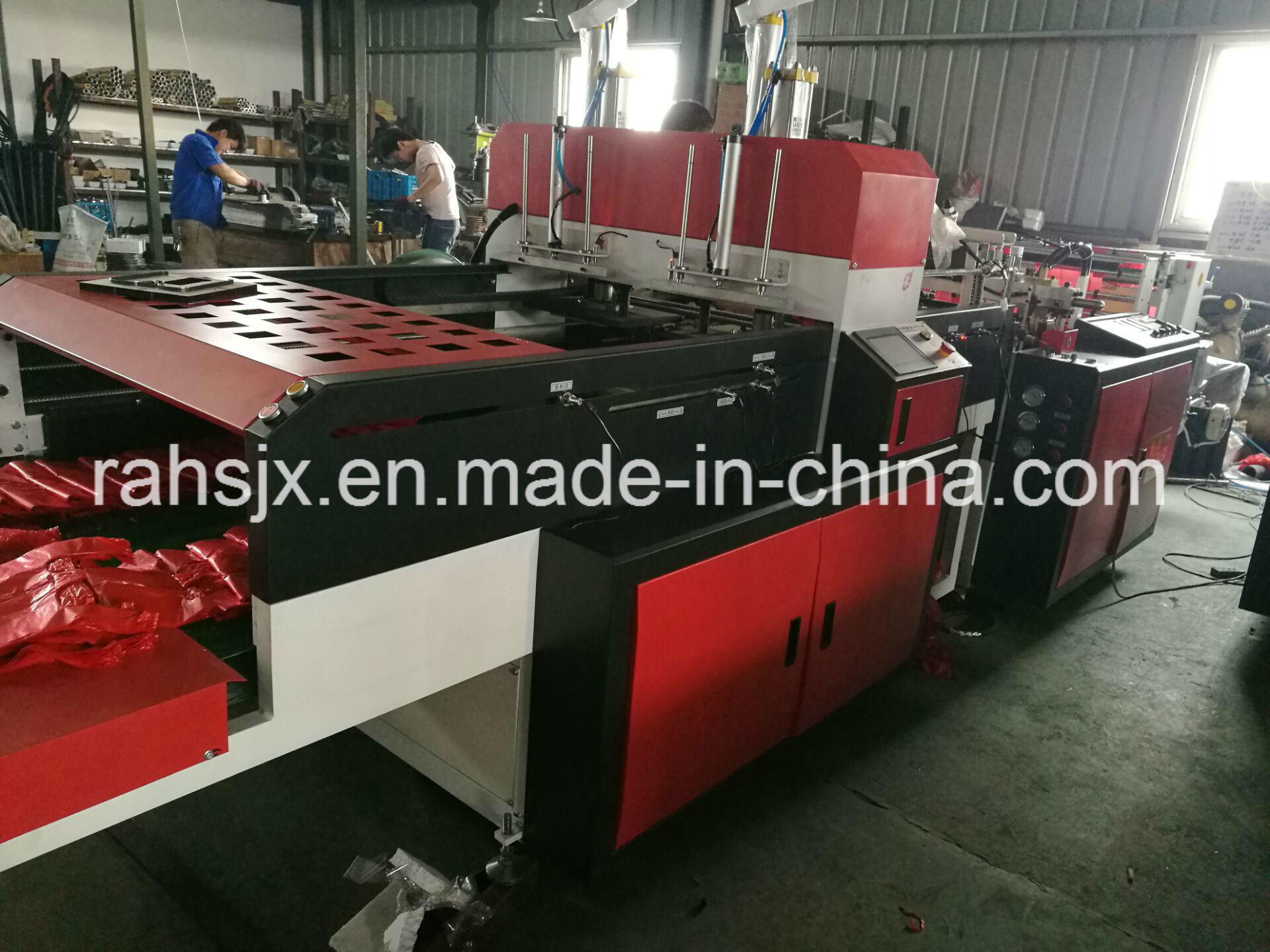 Automatic Double Line T-Shirt Bag Cutting Machine (HSRQ-450X2)