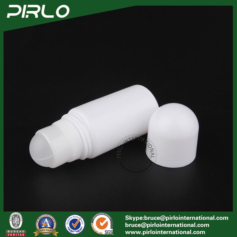 50ml 1.7oz Plain White Plastic Roll on Bottle PP Deodorant Bottles