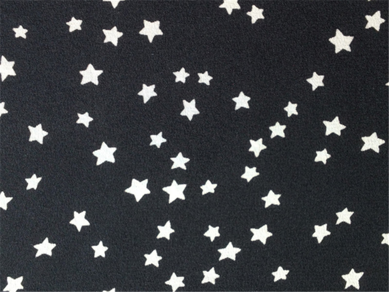Discharge Printed Silk Cdc in Stars Pattern