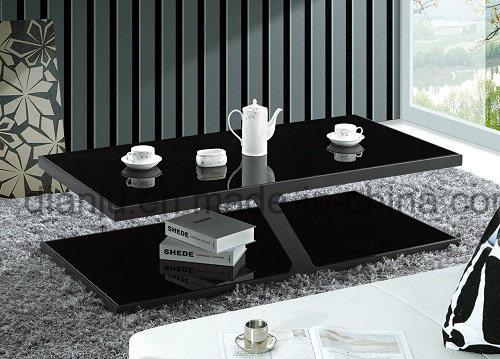 Furniture Black Glass Coffee Table (CT019L)