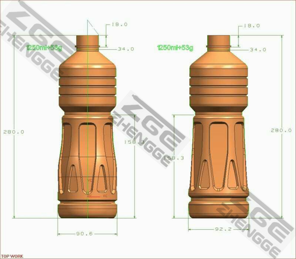 Factory Supply 1-6 Cavities Plastic Bottle Container Blowing Mold