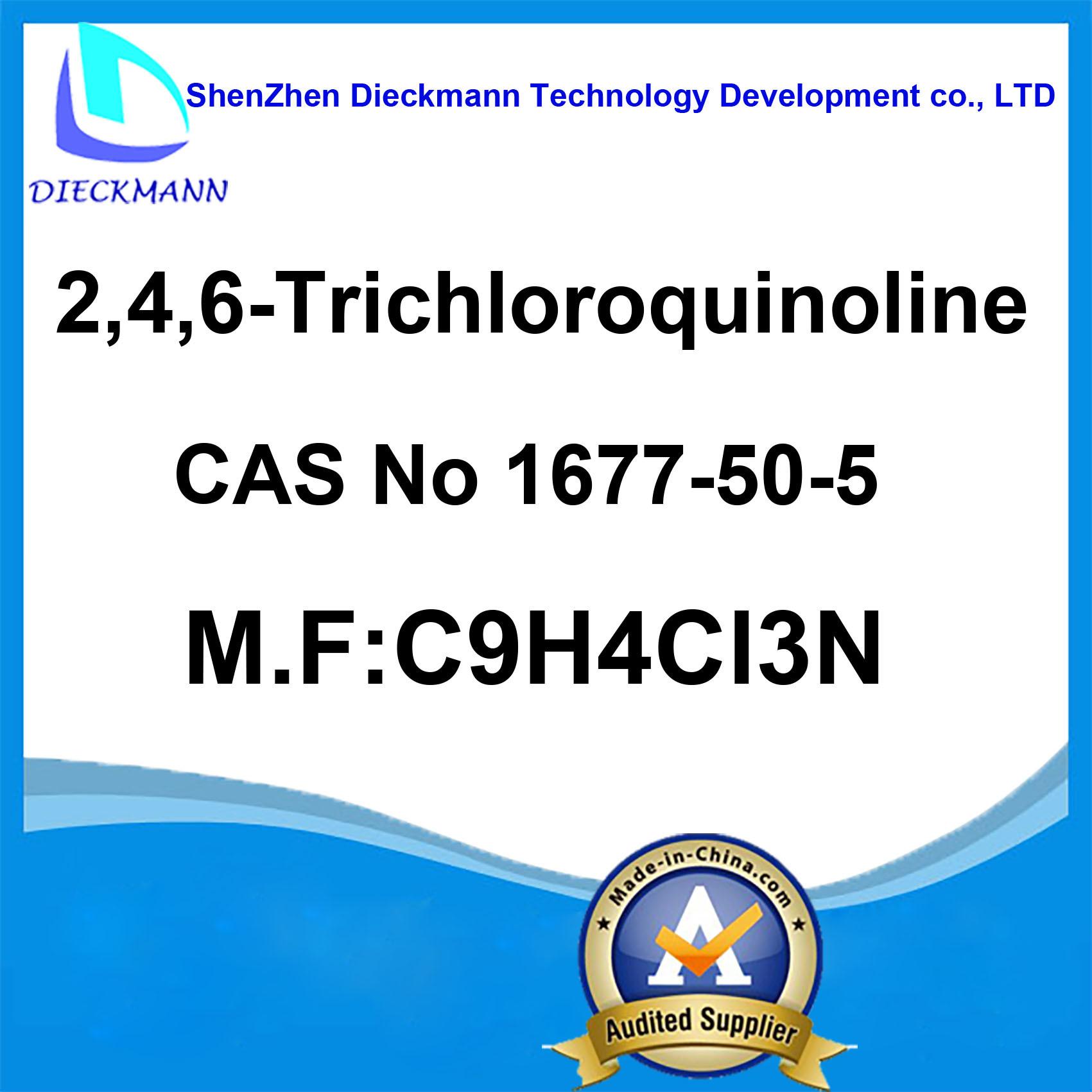 2, 4, 6-Trichloroquinoline CAS No 1677-50-5