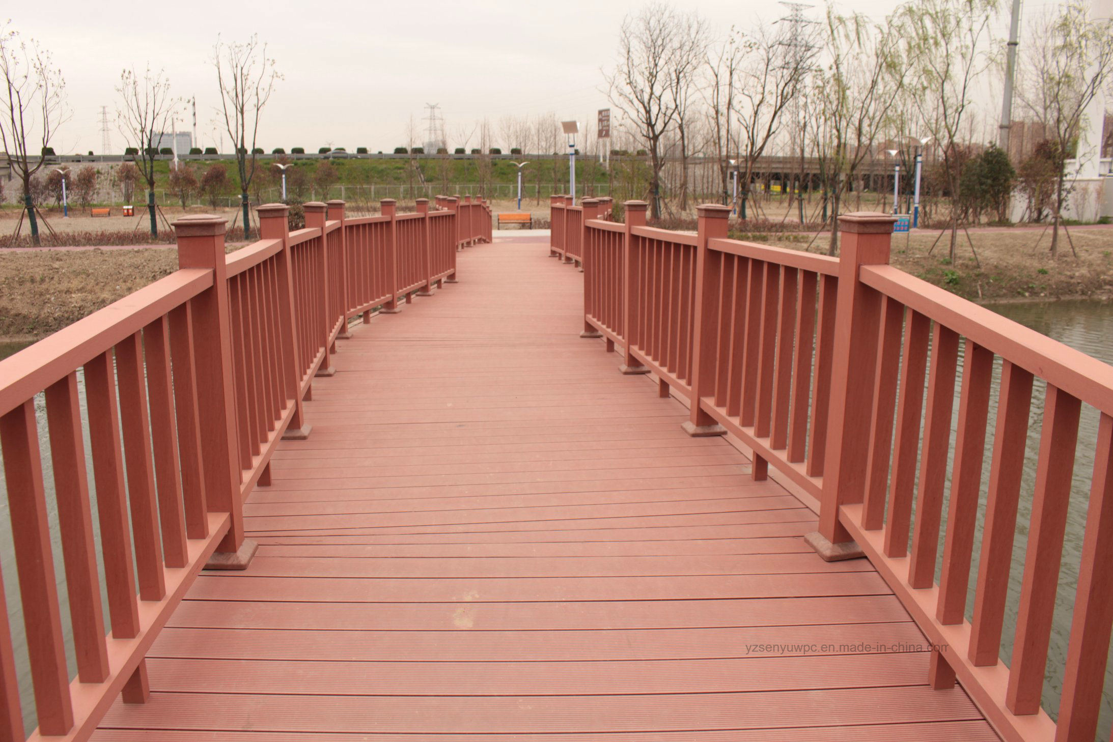 Outdoor Composite Decking Building Material