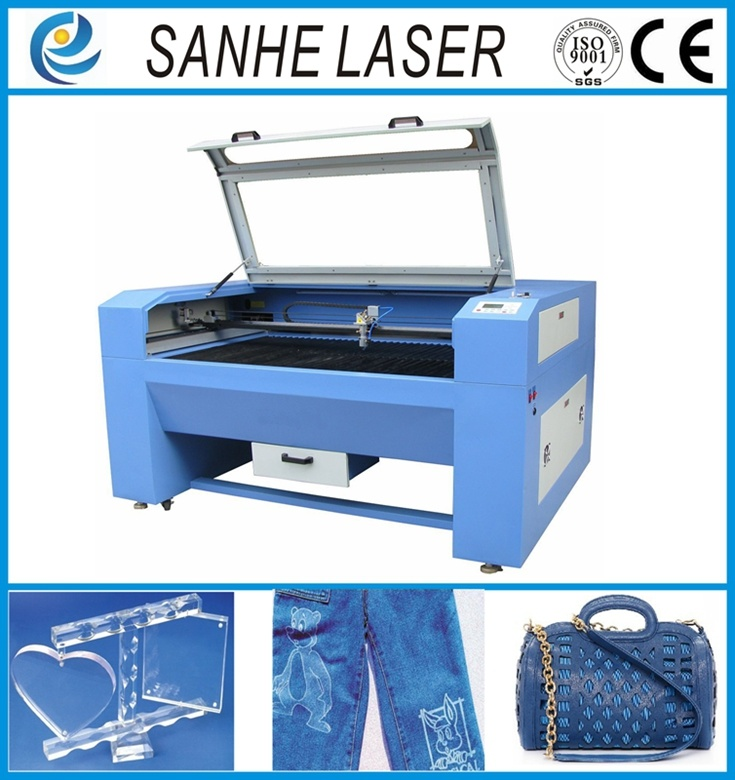 China 1000*960mm Automatic Feed Plastic Leather 100wco2 Laser Engraver Engraving Machine