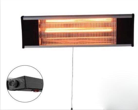 Wall Amounted Electric Heater Infrared Outdoor Heater with Splash Water Protected IP65