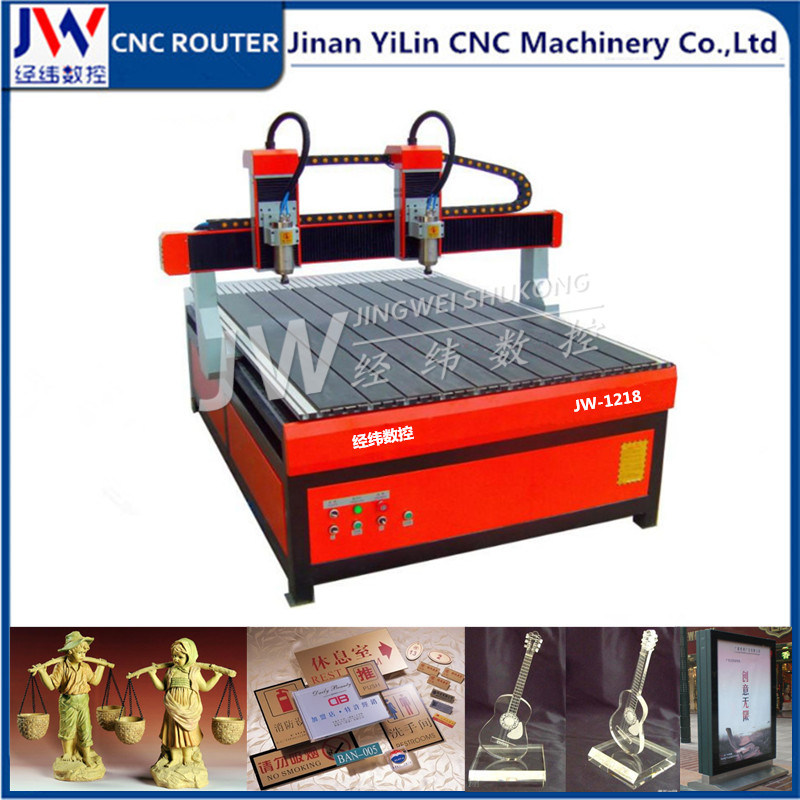 1218 Advertising CNC Router with 2 Independent Spindles