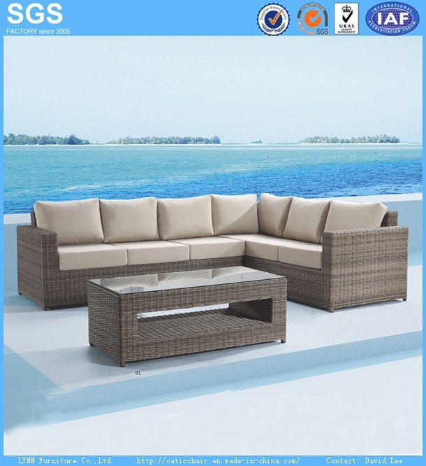Wicker Sofa Outdoor Garden Patio Furniture PE Rattan Furniture