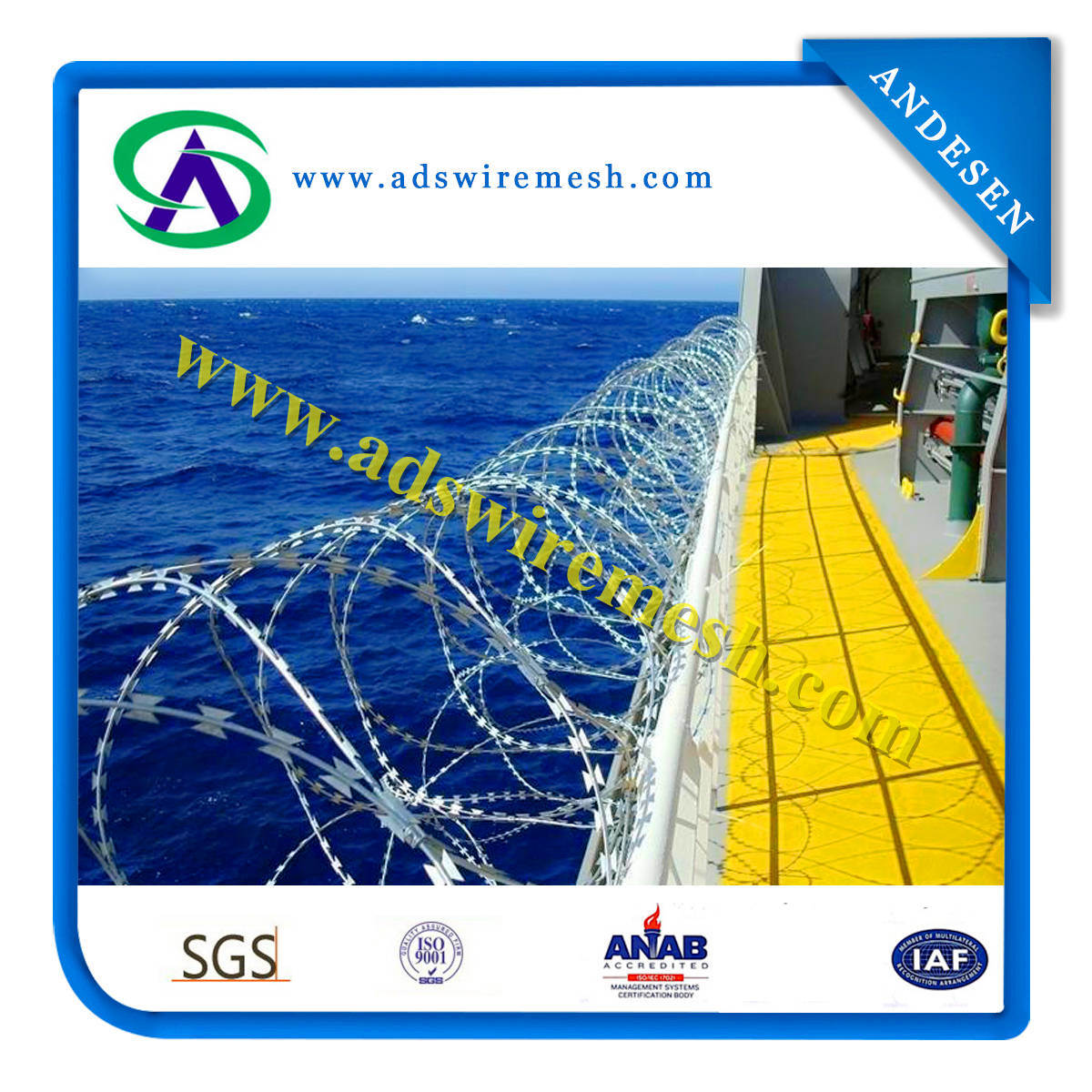 Direct Factory Hot Sales Galvanized Razor Barbed Wire (Export Quality)