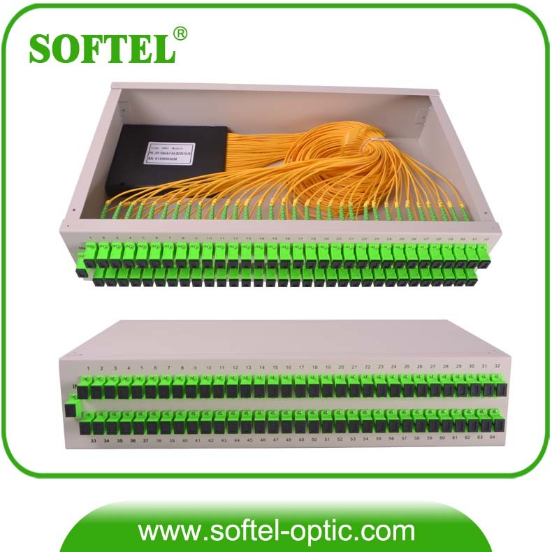 "1u 19"" Standard Rack Mount PLC Splitter"