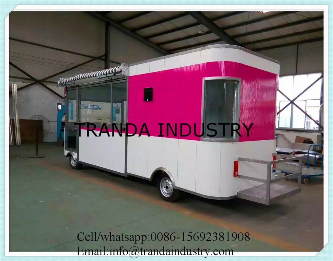 Electric Tricycle Hotdog Kiosk Pushedfry Cart