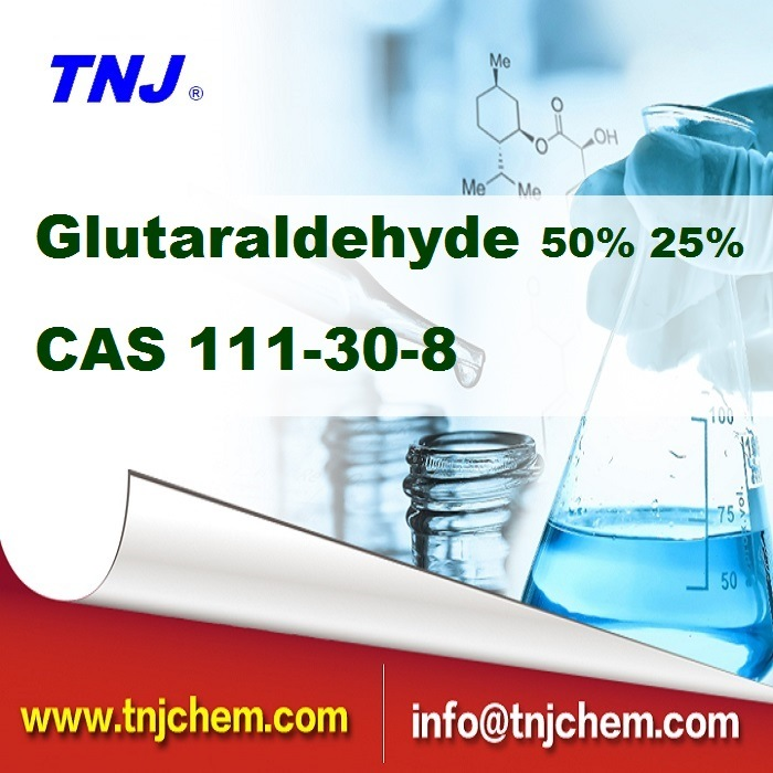 Good Quality Glutaraldehyde 50% CAS 111-30-8 From China Factory with Competitive Price