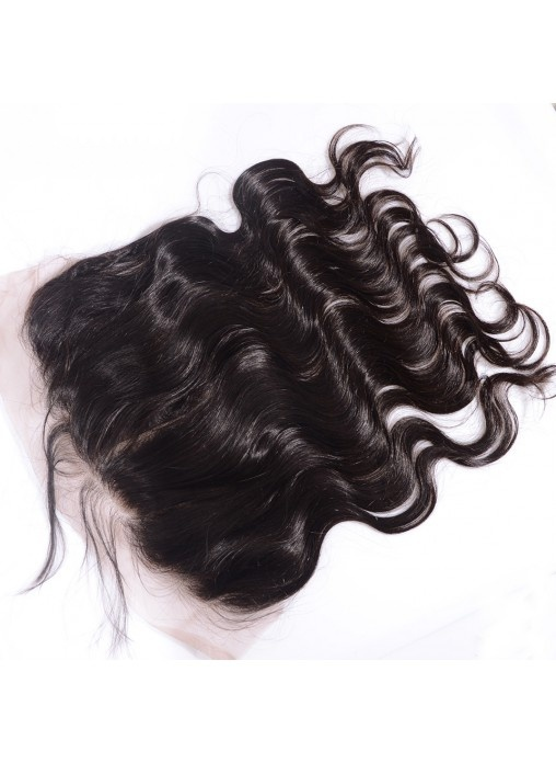 Natural Looking Hairline 13X6 Body Wave Virgin Human Hair Lace Frontal Bleached Knots Ear to Full Frontal Closures