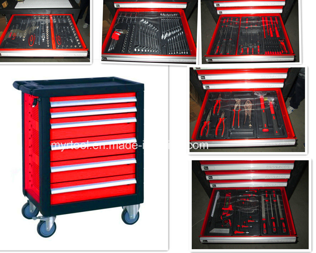Professional 7 Drawers Tool Cabinet with Tools