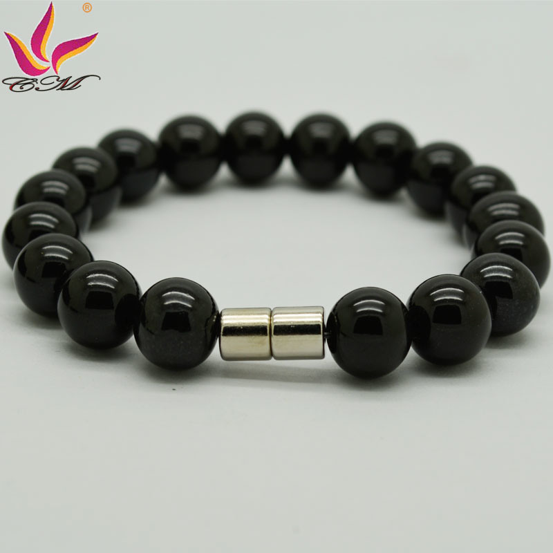 Classic Fashion Back Germanium Power Beads Bracelet Jewelry