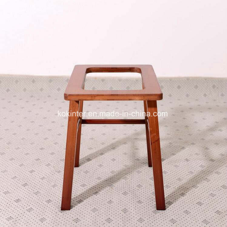 Bamboo Solid Toilet Stool for Elder&Disabled People