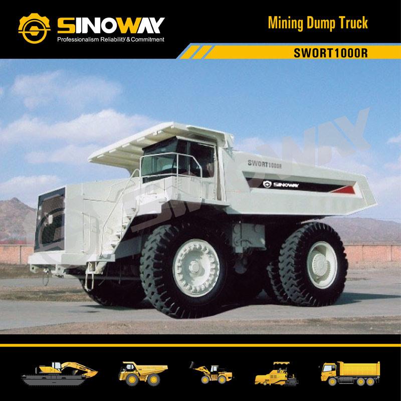 Rigid Dump Truck with 90 Ton Loading Capacity