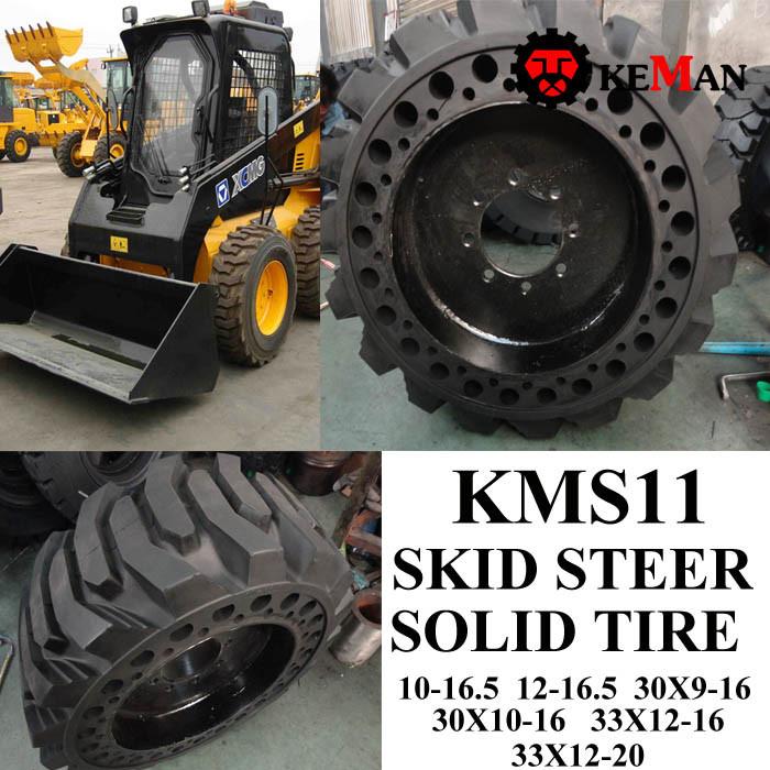 Skid Steer Solid Tire 12-16.5 10-16.5 30X9-16 33X12-20 33X12-16 30X10-16