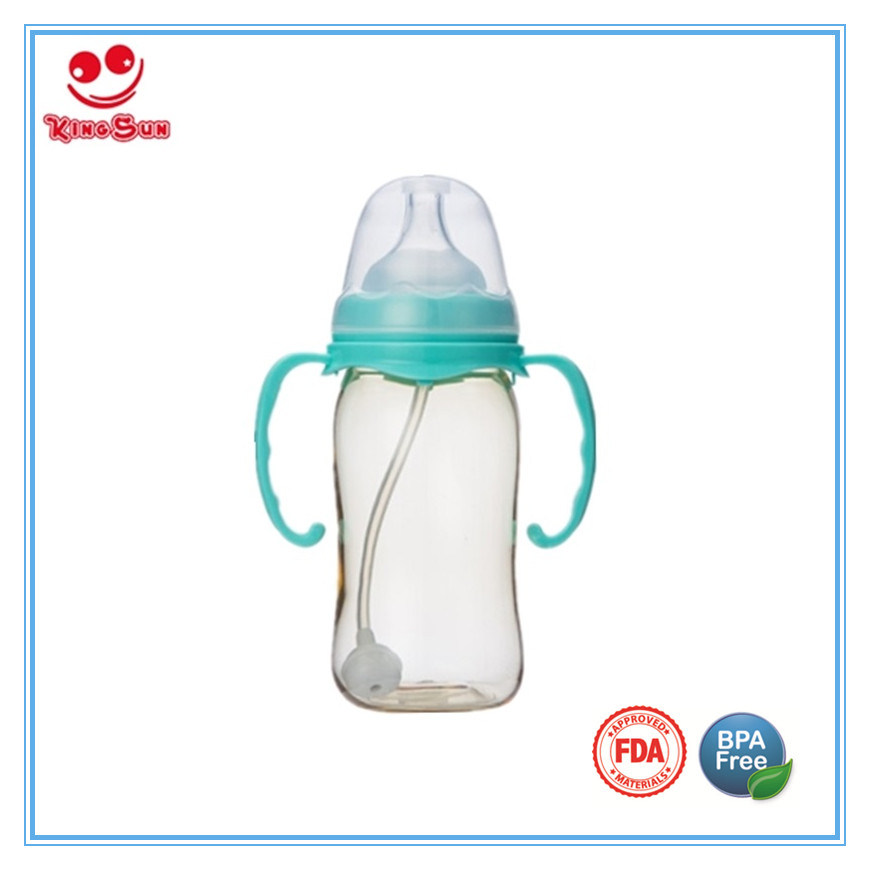 Wide Neck Nursing PPSU Baby Bottle with Food Grade Soother