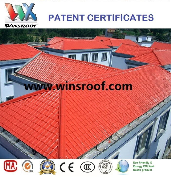 Wins Long Color Last PMMA Synthetic Resin Roof Brick Red Color