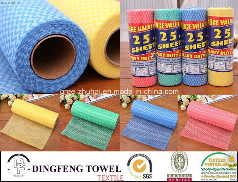 Non Woven Tissue Kitchen Paper Towel & Facial Paper Cloth Df-5919