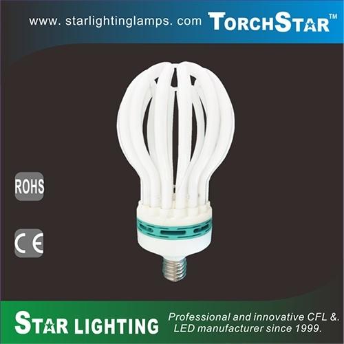 High Power 200W Lotus Shape Tri-Phosphor CFL Lamp