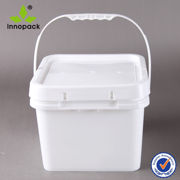 Square 8L Plastic Bucket and Container with Lid