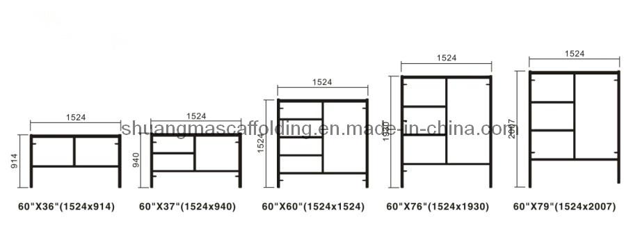 Construction Working Platform Frame Scaffolding