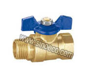 Reduced Male Forged Brass Butterfly Handle Ball Valve