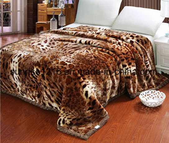 High Quality Mink Blanket Sr-B170214-7 Printed Mink Blanket Solid Mink Blanket