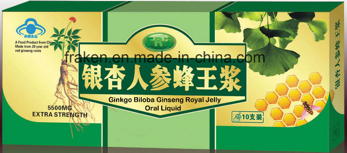 Ginseng Royal Jelly Been Pollen Oral Liquid / Green Tea Ginseng Royal Jelly Oral Liquid / Ginkgo Biloba Ginseng Royal Jelly Oral Liquid