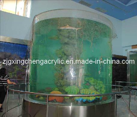 Cylindrical Acrylic Fish Tank