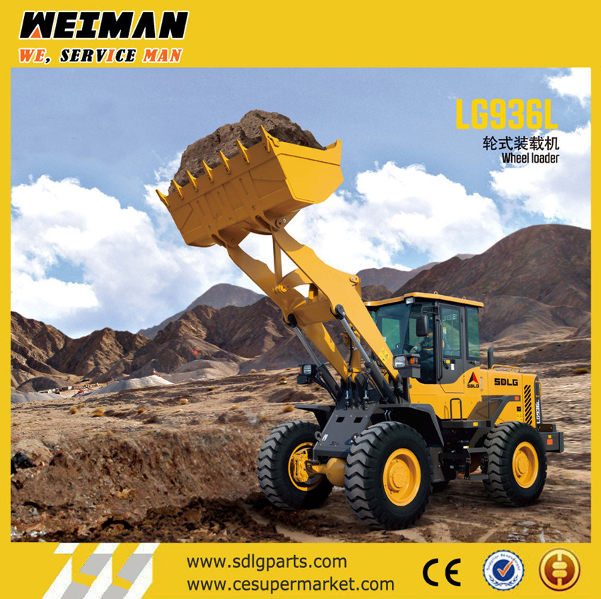 Sdlg 3t Front End Loader LG936L for Farm Quarry and Sanding