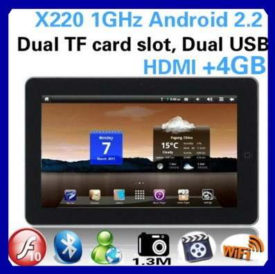 Tablet Android 2.2 GPS 3G Superpad 3 512MB 1GHz - China Tablet Pc