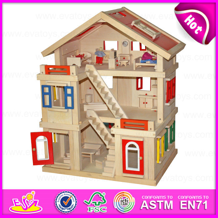 China 2015 happy family doll house for kids diy toy wooden doll house toy for children best - Houses for families withchild ...