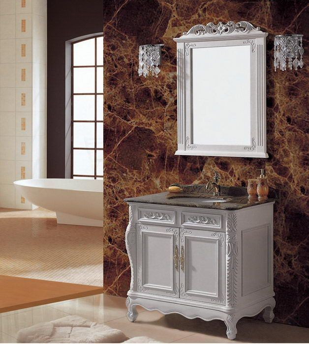 Hotel Salling Eurpean Type Wooden Furniture Bathroom Cabinet (ADS-629)