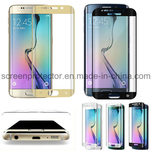 Full Screen 3D Curved 9h Tempered Glass for Samsung Galaxy S6 Edge Screen Protector