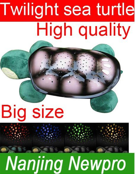 China Big Size Twilight Sea Turtle Night Light Star Guide