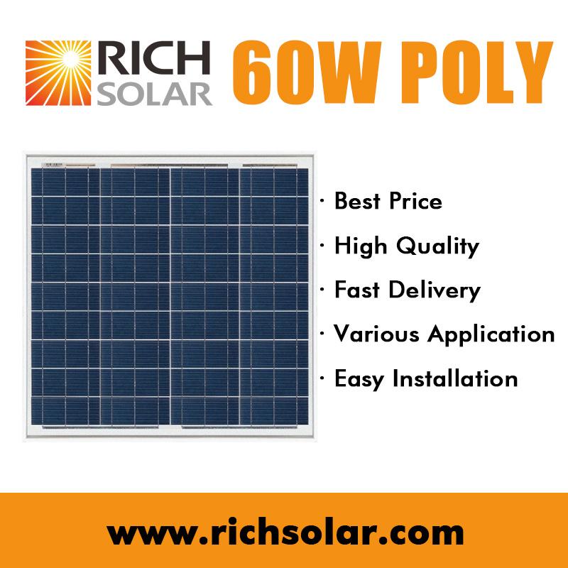 60W Solar Cell Polycrystalline Solar Panel Mini Solar Module