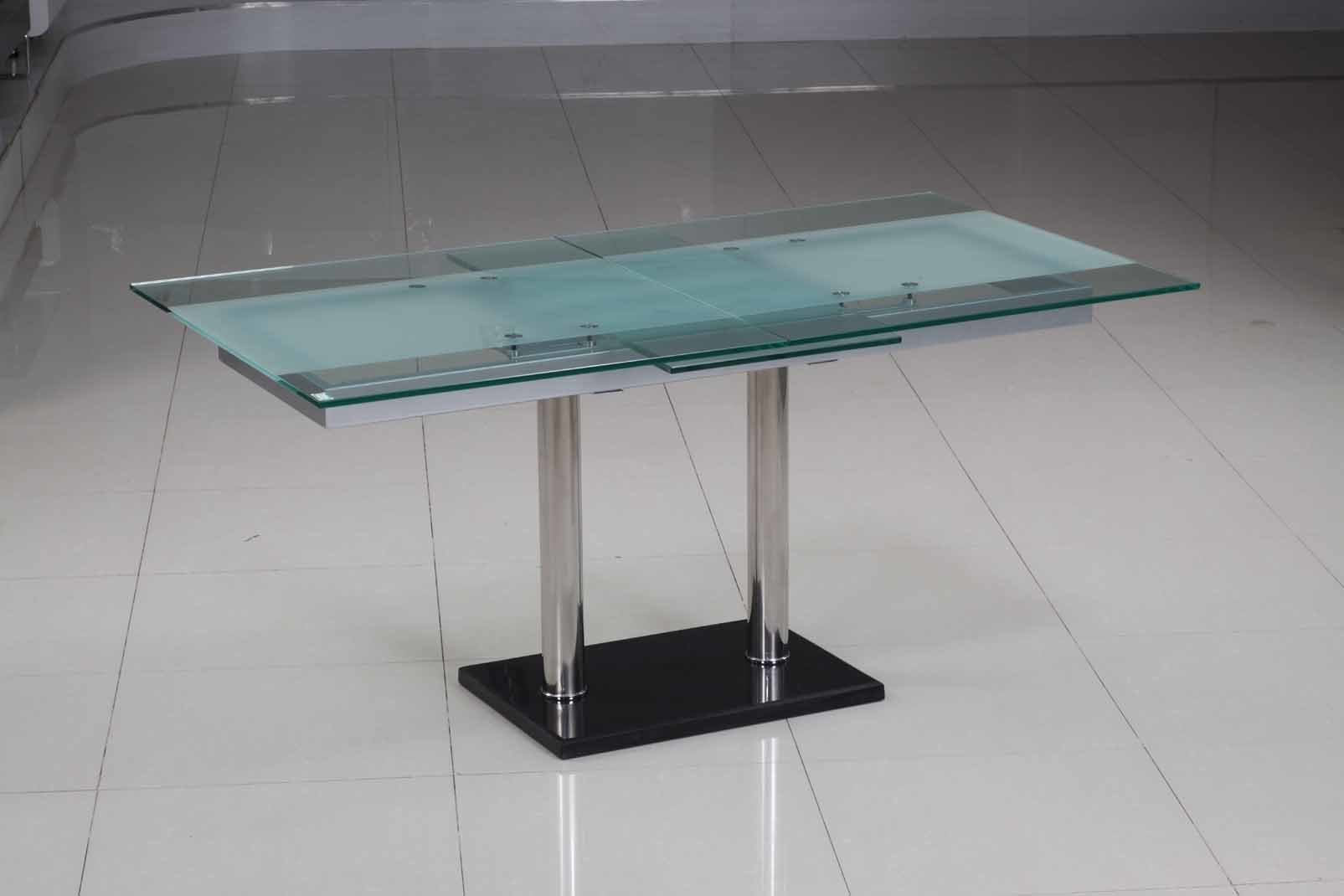 China fancy glass table d201 china functional table for Fancy glass dining table