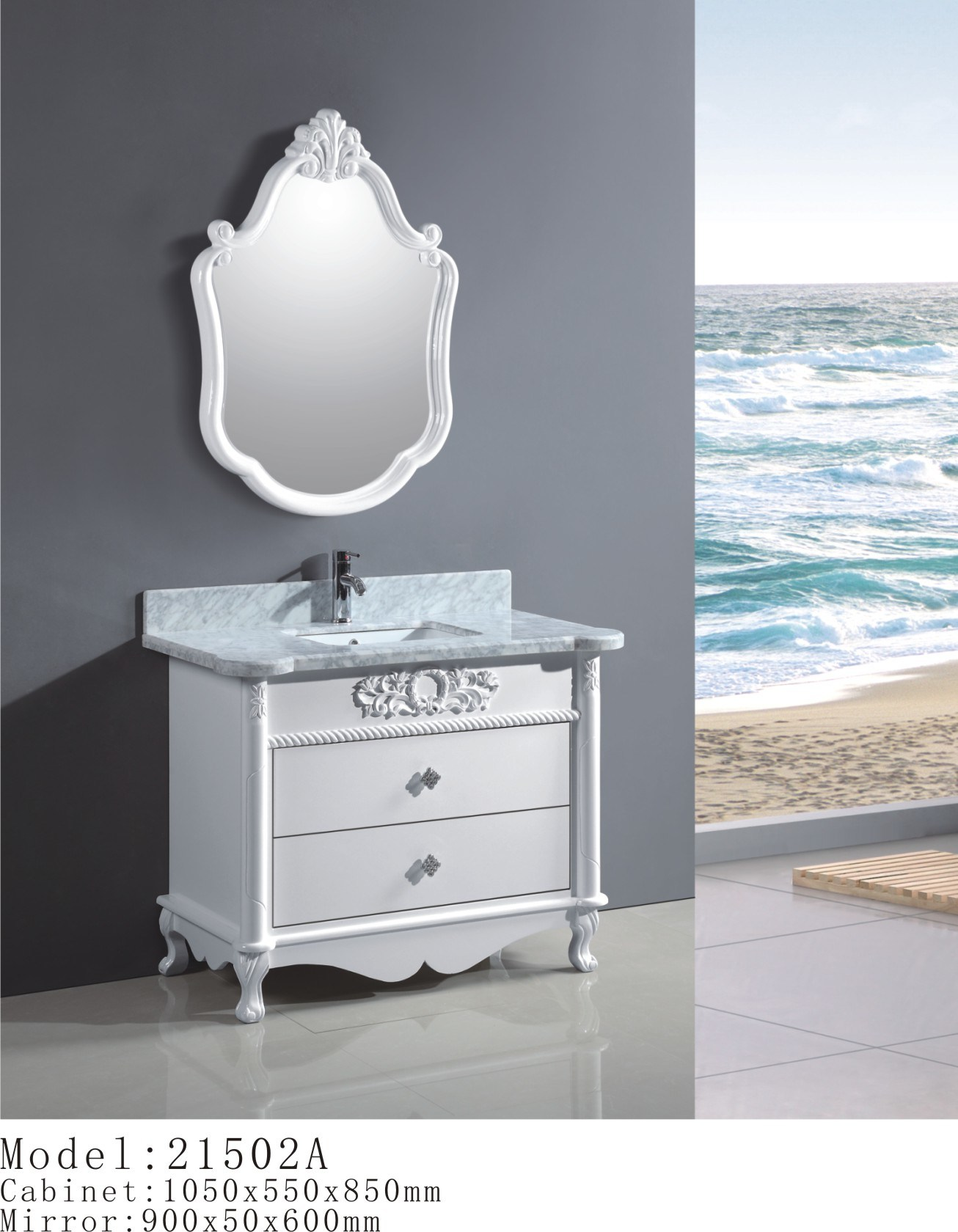 solid wood bathroom cabinet bathroom vanity 21502a china bathroom