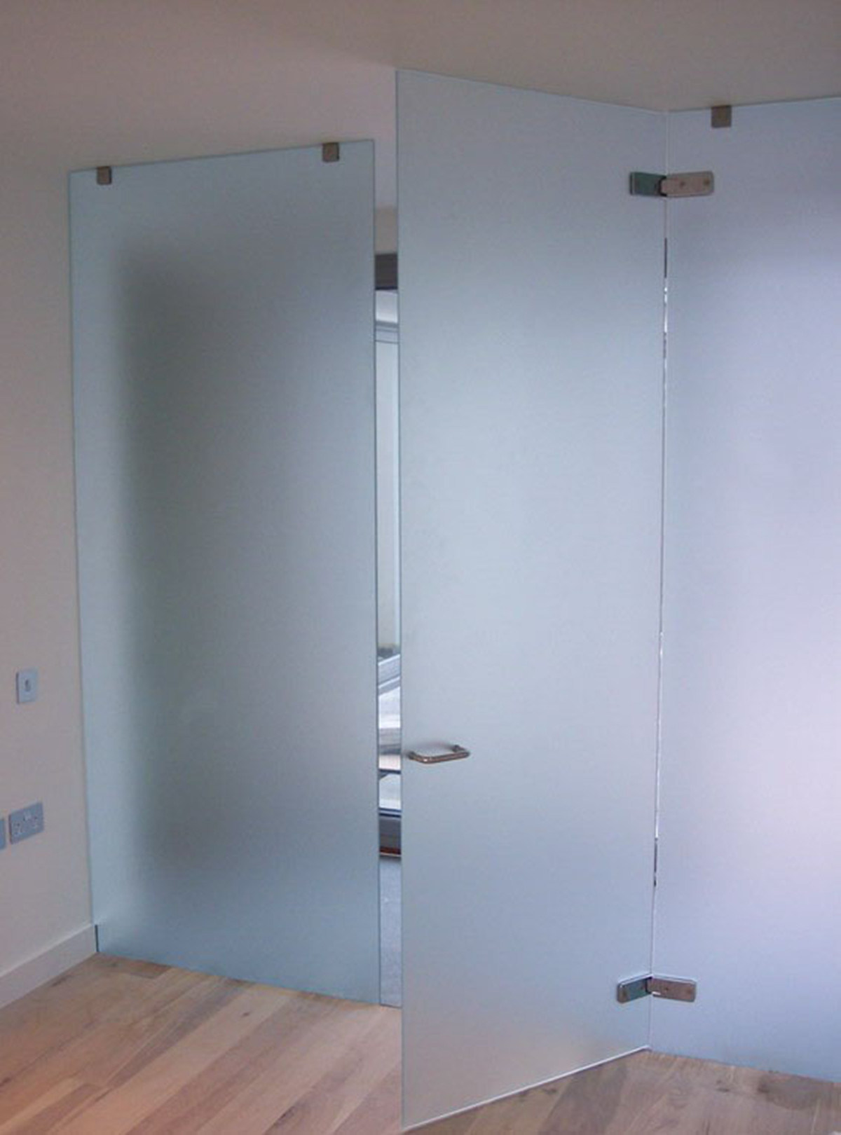 Tempered Frosted Glass Bathroom Door