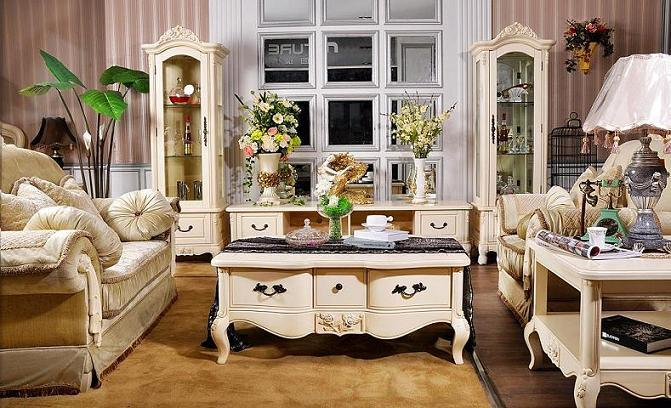 New trend home interior country style dining room furniture for French chic living room