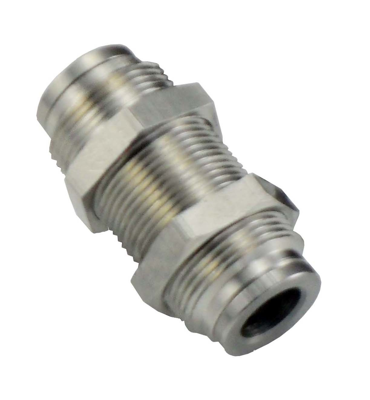 China stc stainless steel bulkhead union push in fittings