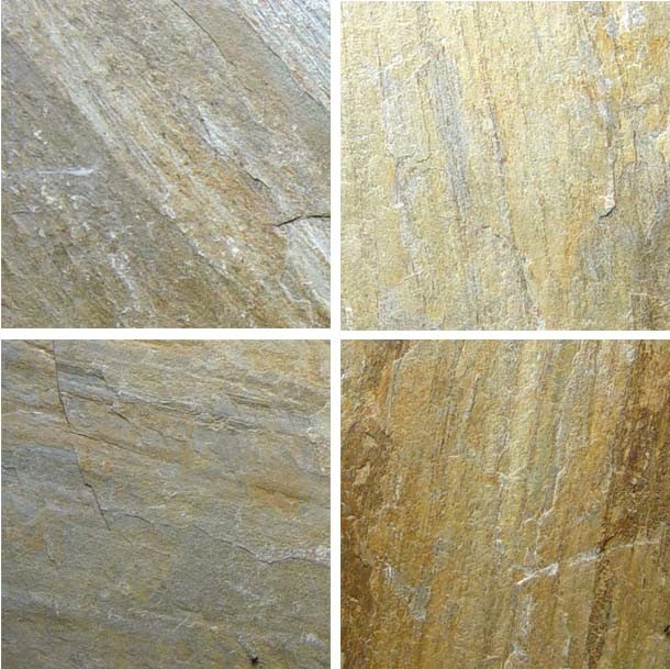 Hot Yellow Natural Slate Stone for Engineering and Wall Decoration