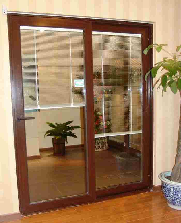 Aluminum Sliding Door With Blinds Photos Pictures